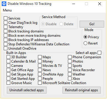 DisableWin10Tracking